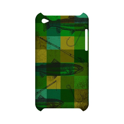 Green Plaid Trout Design - Geeks Designer Line (GDL) Fish Series Hard Back Cover for Apple iPod Touch 4