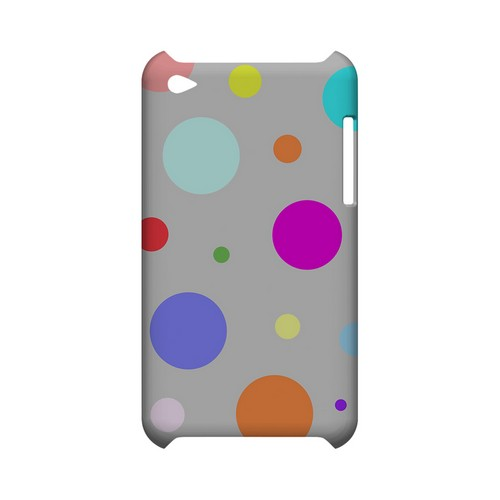 Random & Rainbow on Gray Geeks Designer Line Polka Dot Series Slim Hard Case for Apple iPod Touch 4