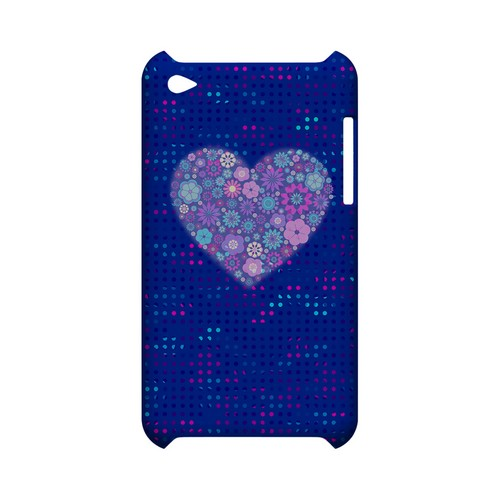 Shimmer Blue Dots & Heart Geeks Designer Line Polka Dot Series Slim Hard Case for Apple iPod Touch 4