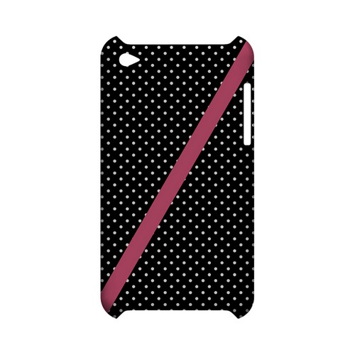 Pink Diagonal Stripe Geeks Designer Line Polka Dot Series Slim Hard Case for Apple iPod Touch 4