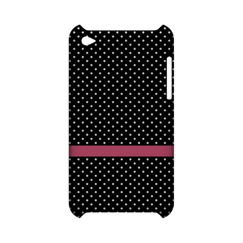 Pink Horizontal Stripe Geeks Designer Line Polka Dot Series Slim Hard Case for Apple iPod Touch 4