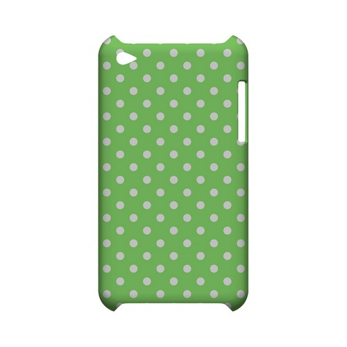 White Dots on Green Geeks Designer Line Polka Dot Series Slim Hard Case for Apple iPod Touch 4