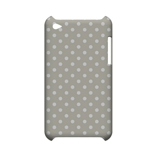 White Dots on Khaki Geeks Designer Line Polka Dot Series Slim Hard Case for Apple iPod Touch 4