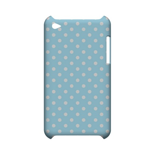 White Dots on Sky Blue Geeks Designer Line Polka Dot Series Slim Hard Case for Apple iPod Touch 4