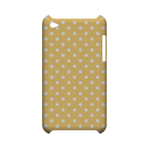 White Dots on Orange Geeks Designer Line Polka Dot Series Slim Hard Case for Apple iPod Touch 4