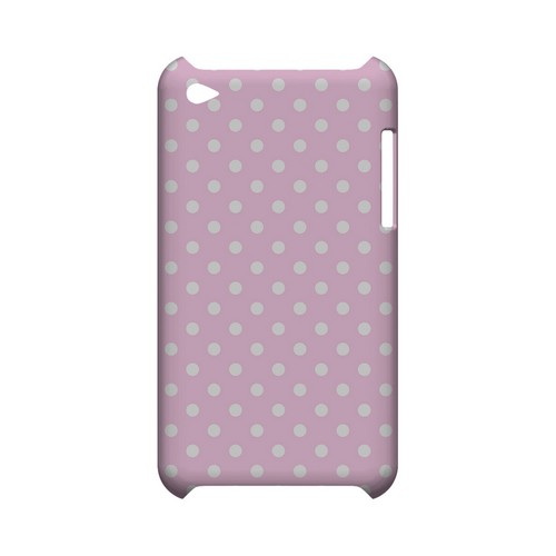 White Dots on Baby Pink Geeks Designer Line Polka Dot Series Slim Hard Case for Apple iPod Touch 4