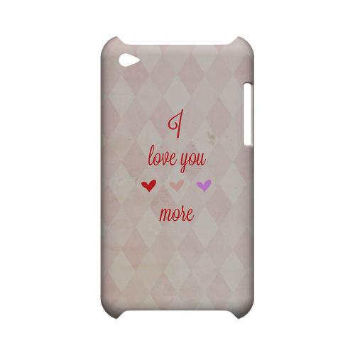 I Love You More Geeks Designer Line Heart Series Slim Hard Case for Apple iPod Touch 4