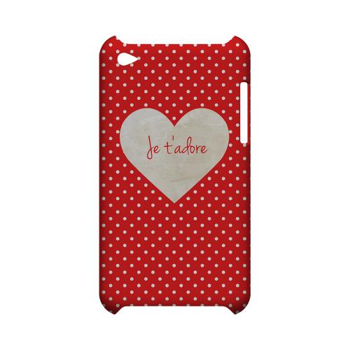 Je t'adore Geeks Designer Line Heart Series Slim Hard Case for Apple iPod Touch 4