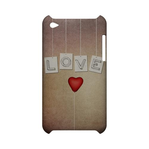 Love & Heart Balloon Geeks Designer Line Heart Series Slim Hard Case for Apple iPod Touch 4