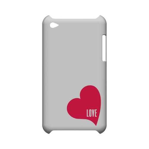 Love Heart Geeks Designer Line Heart Series Slim Hard Case for Apple iPod Touch 4