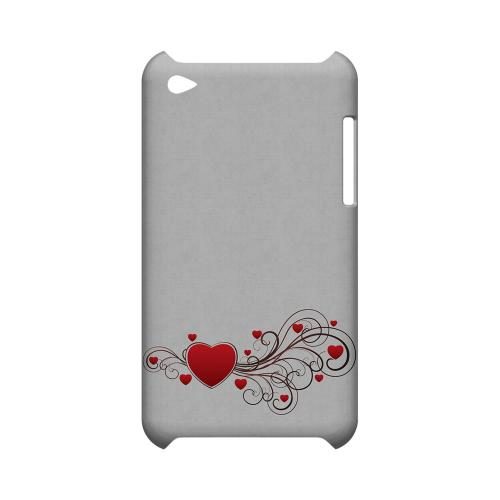 Love Bloom Geeks Designer Line Heart Series Slim Hard Case for Apple iPod Touch 4