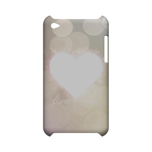 Pure Love Geeks Designer Line Heart Series Slim Hard Case for Apple iPod Touch 4