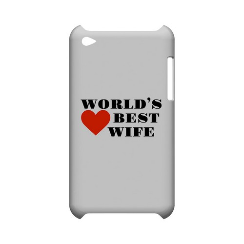 World's Best Wife Geeks Designer Line Heart Series Slim Hard Case for Apple iPod Touch 4