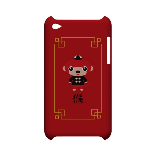 Chibi Monkey Geeks Designer Line Chinese Horoscope Series Slim Hard Case for Apple iPod Touch 4