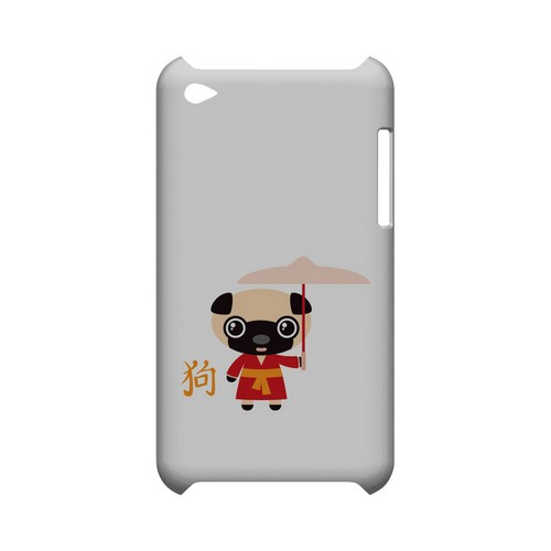 Dog on White Geeks Designer Line Chinese Horoscope Series Slim Hard Case for Apple iPod Touch 4