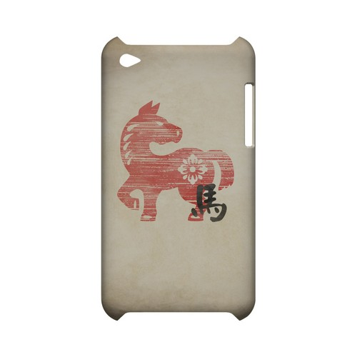 Grunge Horse Geeks Designer Line Chinese Horoscope Series Slim Hard Case for Apple iPod Touch 4