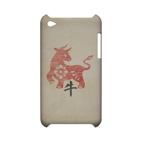 Grunge Ox Geeks Designer Line Chinese Horoscope Series Slim Hard Case for Apple iPod Touch 4