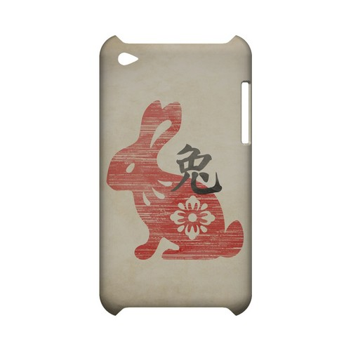 Grunge Rabbit Geeks Designer Line Chinese Horoscope Series Slim Hard Case for Apple iPod Touch 4