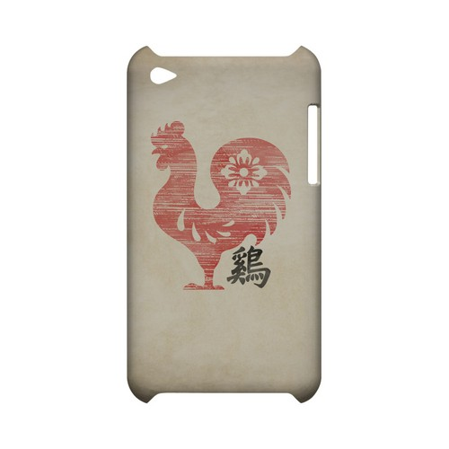 Grunge Rooster Geeks Designer Line Chinese Horoscope Series Slim Hard Case for Apple iPod Touch 4
