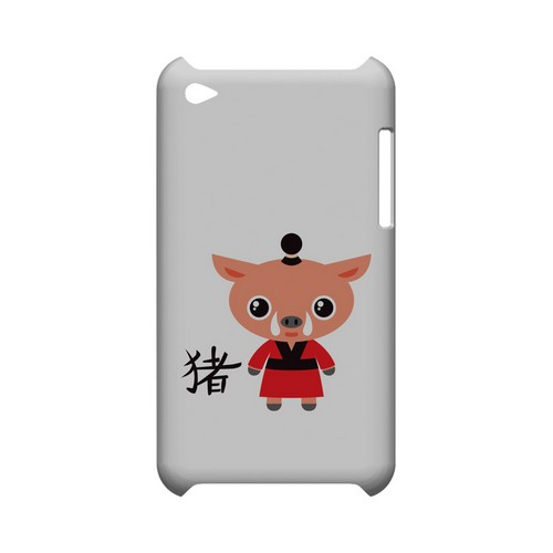Pig on White Geeks Designer Line Chinese Horoscope Series Slim Hard Case for Apple iPod Touch 4