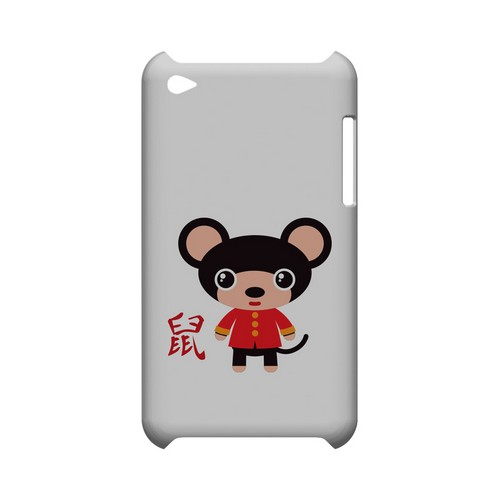 Rat on White Geeks Designer Line Chinese Horoscope Series Slim Hard Case for Apple iPod Touch 4