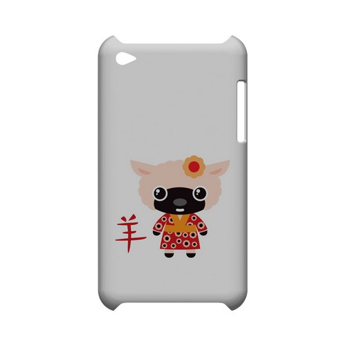 Sheep on White Geeks Designer Line Chinese Horoscope Series Slim Hard Case for Apple iPod Touch 4