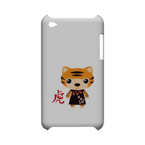 Tiger on White Geeks Designer Line Chinese Horoscope Series Slim Hard Case for Apple iPod Touch 4