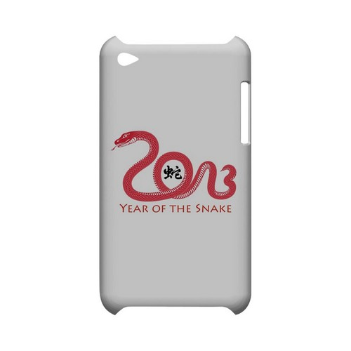 Red Year of the Snake Geeks Designer Line Chinese Horoscope Series Slim Hard Case for Apple iPod Touch 4