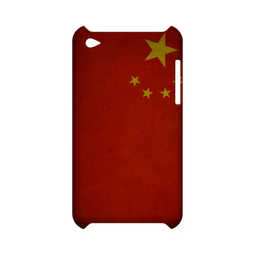 Grunge China Geeks Designer Line Flag Series Slim Hard Case for Apple iPod Touch 4