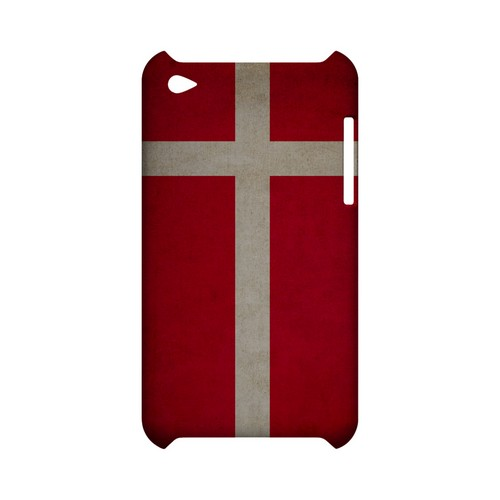 Grunge Denmark Geeks Designer Line Flag Series Slim Hard Case for Apple iPod Touch 4