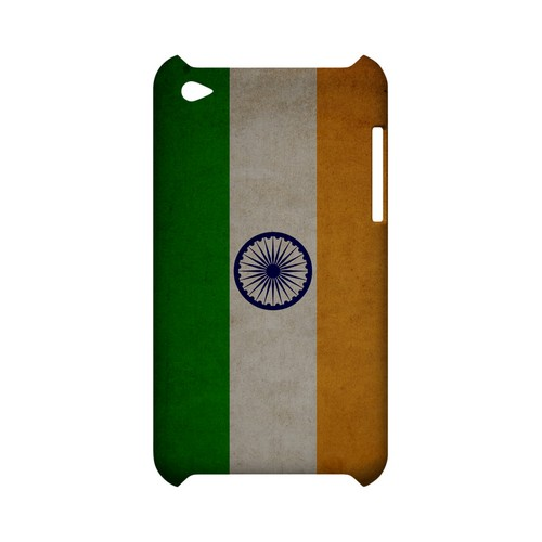 Grunge India Geeks Designer Line Flag Series Slim Hard Case for Apple iPod Touch 4