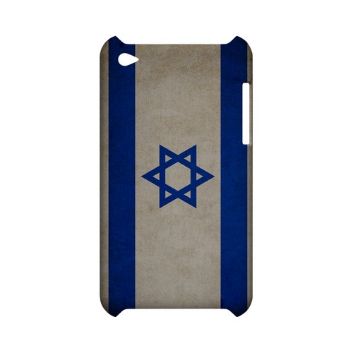 Grunge Israel Geeks Designer Line Flag Series Slim Hard Case for Apple iPod Touch 4