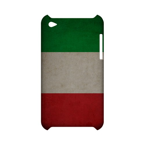 Grunge Italy Geeks Designer Line Flag Series Slim Hard Case for Apple iPod Touch 4
