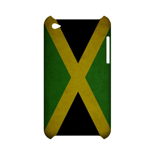 Grunge Jamaica Geeks Designer Line Flag Series Slim Hard Case for Apple iPod Touch 4