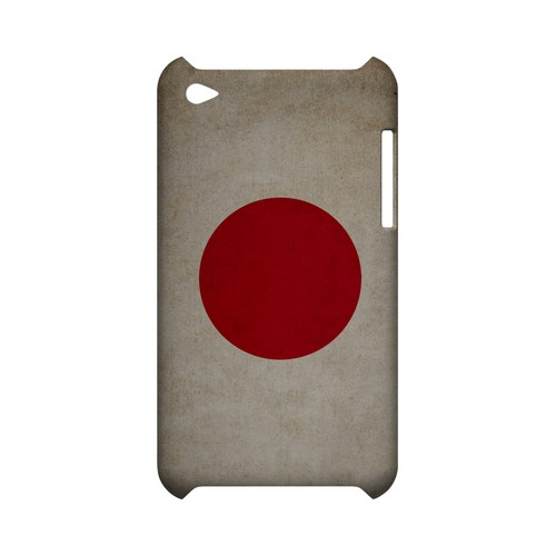 Grunge Japan Geeks Designer Line Flag Series Slim Hard Case for Apple iPod Touch 4