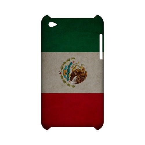 Grunge Mexico Geeks Designer Line Flag Series Slim Hard Case for Apple iPod Touch 4