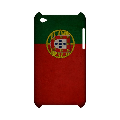Grunge Portugal Geeks Designer Line Flag Series Slim Hard Case for Apple iPod Touch 4