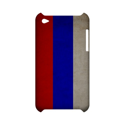 Grunge Russia Geeks Designer Line Flag Series Slim Hard Case for Apple iPod Touch 4