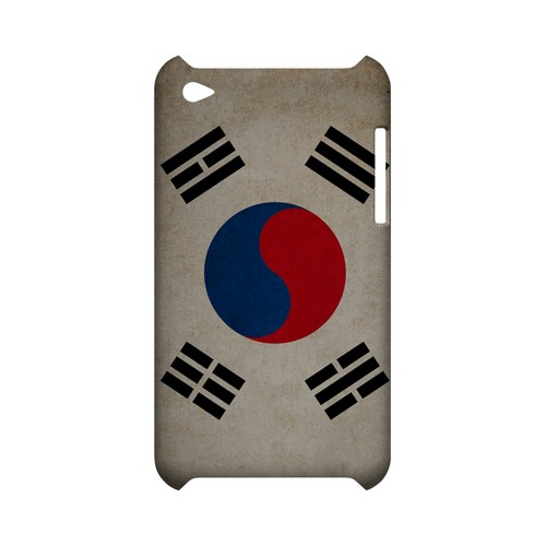 Grunge South Korea Geeks Designer Line Flag Series Slim Hard Case for Apple iPod Touch 4