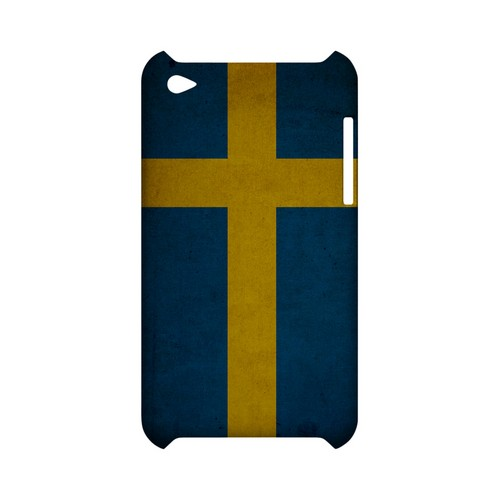 Grunge Sweden Geeks Designer Line Flag Series Slim Hard Case for Apple iPod Touch 4