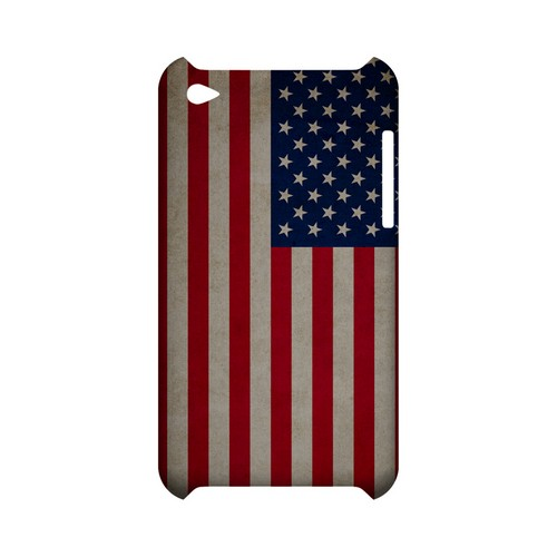 Grunge United States Geeks Designer Line Flag Series Slim Hard Case for Apple iPod Touch 4