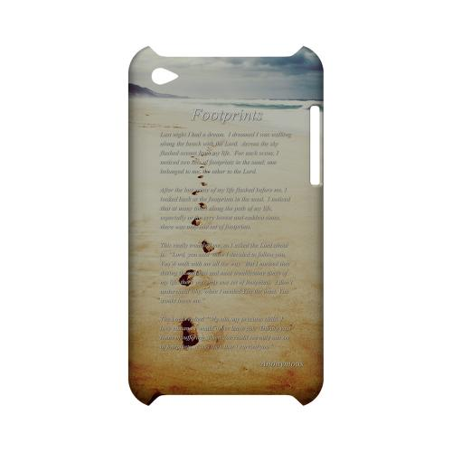 Footprints Geeks Designer Line Beach Series Slim Hard Case for Apple iPod Touch 4