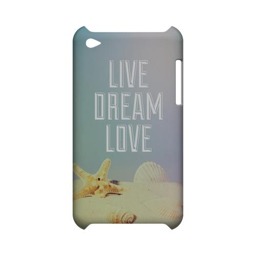 Live Dream Love Geeks Designer Line Beach Series Slim Hard Case for Apple iPod Touch 4