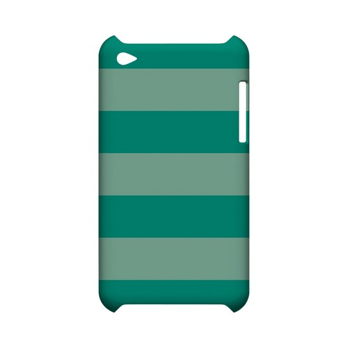 Emerald Grayed Jade - Geeks Designer Line Stripe Series Hard Case for Apple iPod Touch 4