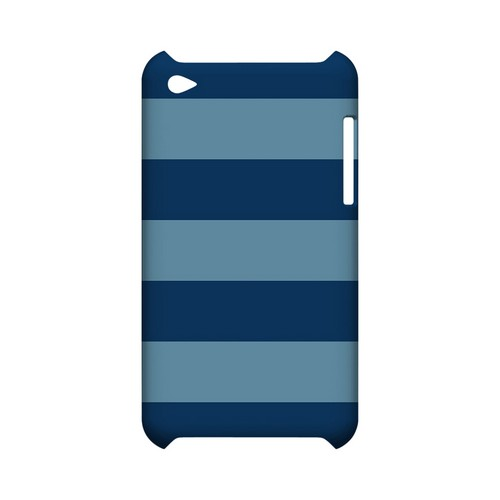 Monaco Blue/ Dusk Blue - Geeks Designer Line Stripe Series Hard Case for Apple iPod Touch 4