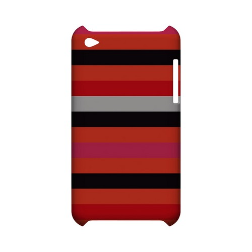 Muted Spade Stripes - Geeks Designer Line Stripe Series Hard Case for Apple iPod Touch 4