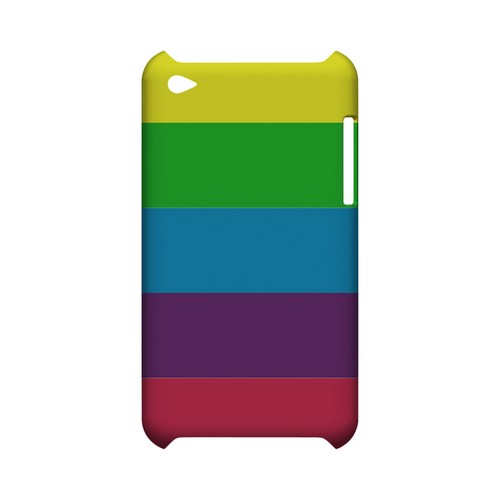 Rainbow Candy Stripes - Geeks Designer Line Stripe Series Hard Case for Apple iPod Touch 4