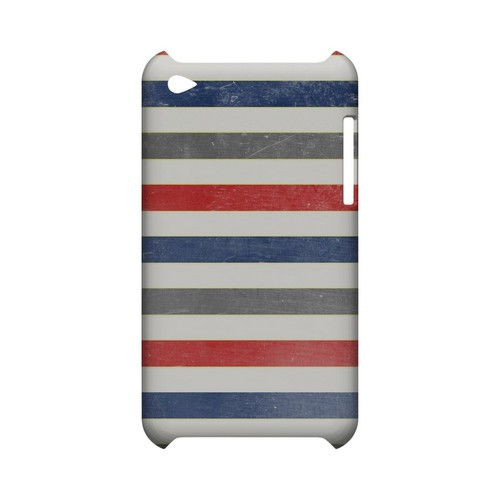 Stripey Blue/ Red - Geeks Designer Line Stripe Series Hard Case for Apple iPod Touch 4