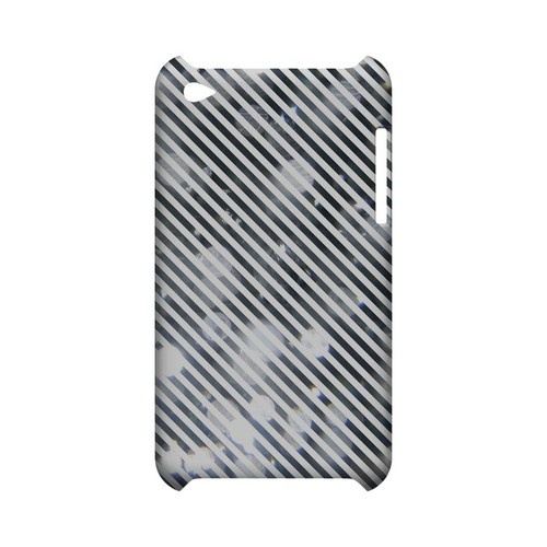 Thin Shimmer Diagonal - Geeks Designer Line Stripe Series Hard Case for Apple iPod Touch 4