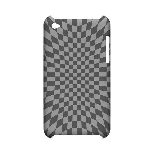 Distortion - Geeks Designer Line Checker Series Hard Case for Apple iPod Touch 4